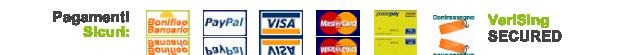 Da Angelucci Cicli puoi pagare tramite carta di credito con Pay Pal, Bonifico Bancario, ricarica Poste Pay o direttamente alla consegna con la massima sicurezza.
